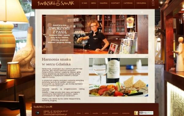 """Budowa strony dla Restauracji """"Swojski Smak"""" z Gdańska"""