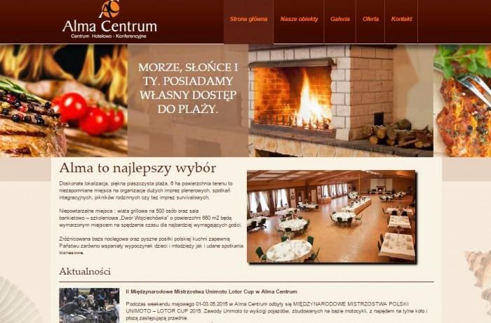 Budowa strony dla Centrum Konferencyjnego ALMA w Sobieszewie