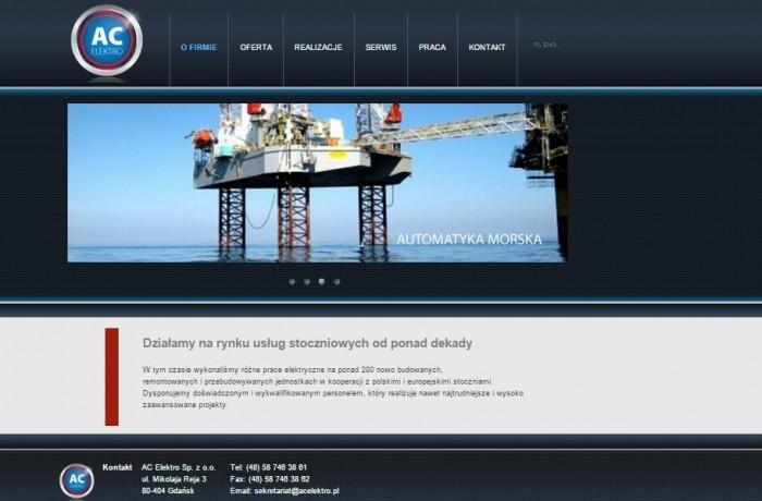 Budowa strony dla AC ELEKTRO Sp. z o.o.