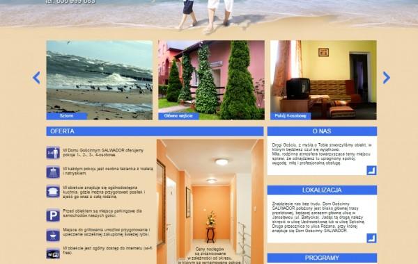 Budowa strony internetowej dla Pensjonatu Salwador