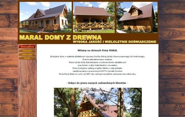 Projekt i wykonanie strony dla firmy MARAL – Producenta domów z drewna