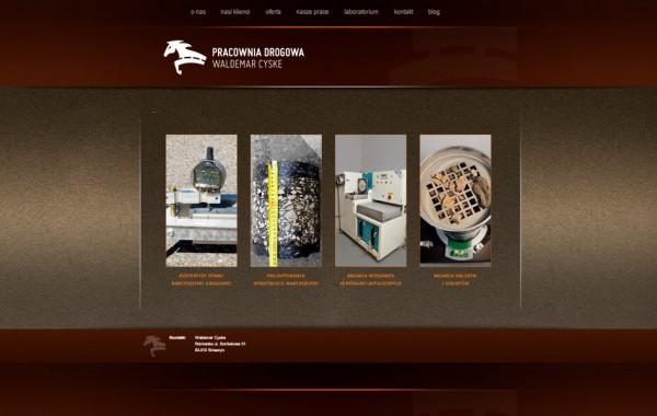 Budowa strony dla Pracowni Drogowej Waldemar Cyske